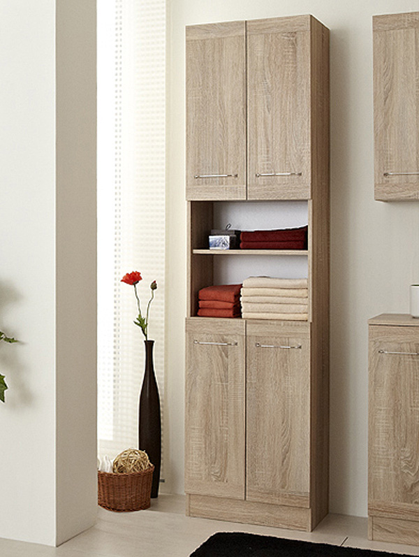 pelipal badm bel luanda hochschrank 50 cm in eiche natur nb ebay. Black Bedroom Furniture Sets. Home Design Ideas