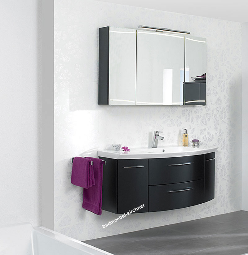 pelipal badm bel cassca 03 schwarz matt 120 cm ebay. Black Bedroom Furniture Sets. Home Design Ideas