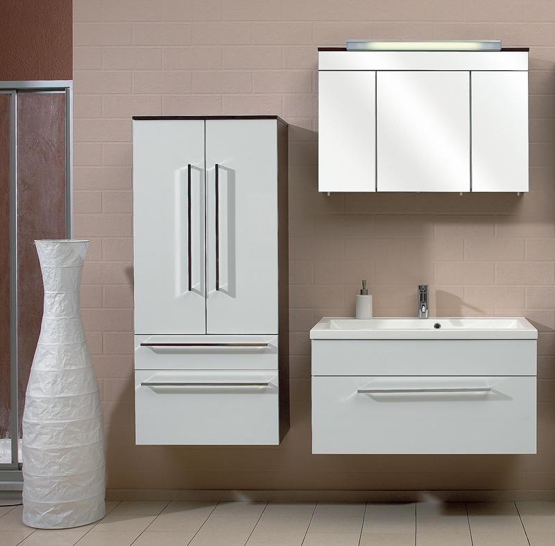restposten pelipal fresh line wei 05 badm bel 90 cm in wei hochglanz wenge. Black Bedroom Furniture Sets. Home Design Ideas