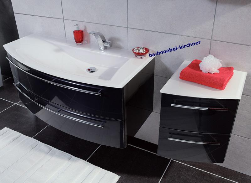 Puris badmöbel  Puris Badmöbel CRESCENDO LED Spiegelschrank Waschtisch 120 cm ...