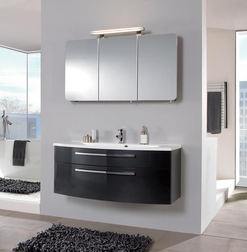 puris badm bel speed 03 anthrazit hochglanz 120. Black Bedroom Furniture Sets. Home Design Ideas
