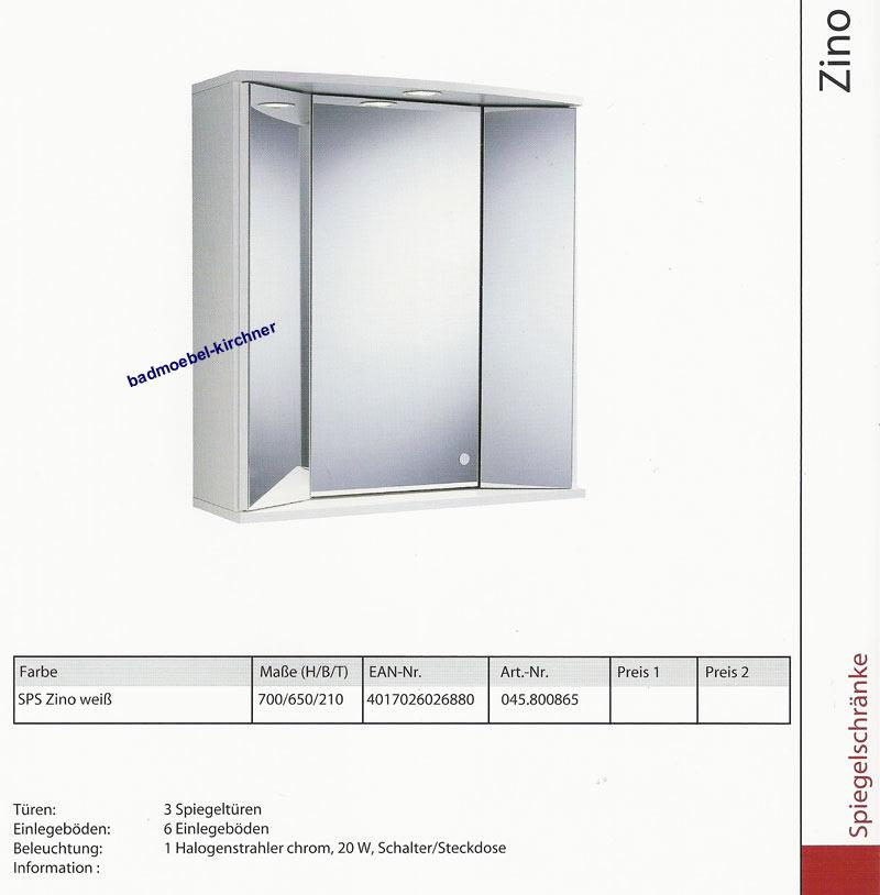 Pelipal Badmöbel Spiegelschrank ZINO 65 cm in weiß NEU