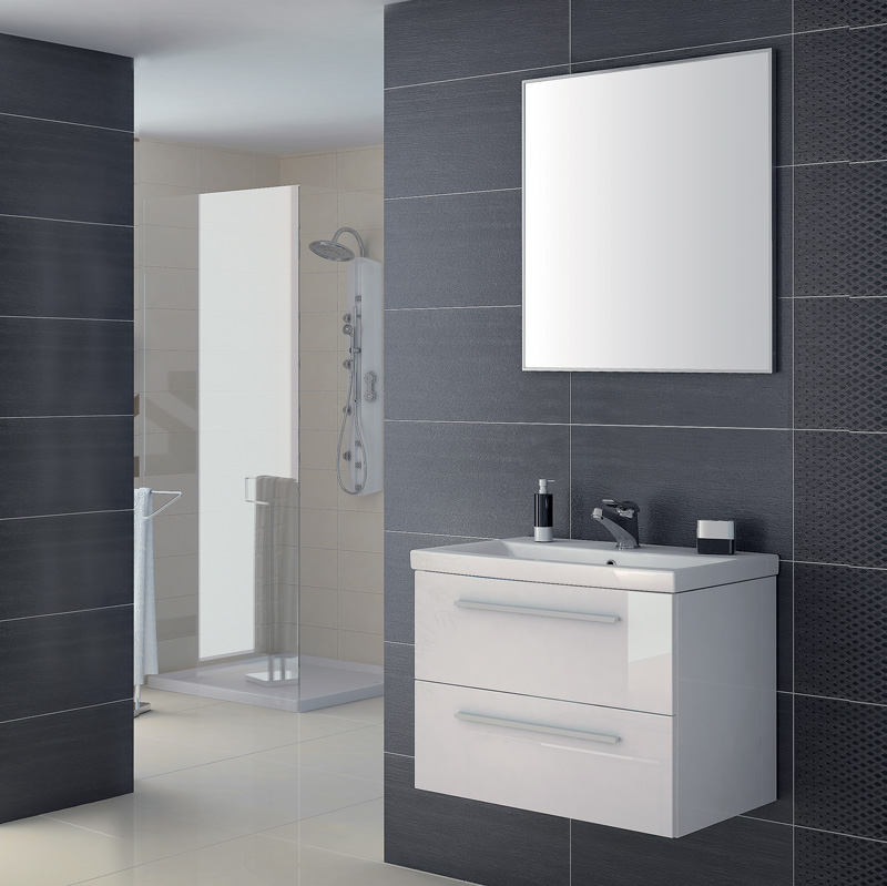 e zoll badm bel isabelle 01 wei hochglanz lack keramik waschtisch wei 40 cm ebay. Black Bedroom Furniture Sets. Home Design Ideas